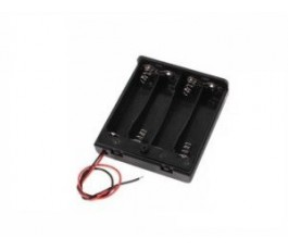 Suport negru baterii 4xAA